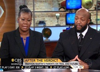 Trayvon Martin's parents, Sybrina Fulton and Tracy Martin, said they are shocked and disgusted the jury in George Zimmerman's trial found him not guilty of murdering their son