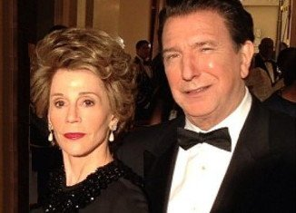 Alan Rickman as Ronald Reagan and Jane Fonda as Nancy Reagan in Lee Daniels' The Butler