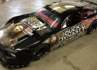 Berlin Raceway officials conjured up a special paint scheme for Duck Dynasty Night in Marne