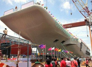 India has launched its first indigenous aircraft carrier from a shipyard