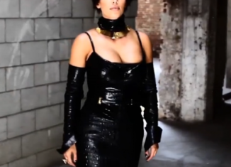 Kim Kardashian scored high-fashion points when she graced the cover of the L'Uomo Vogue