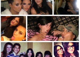Kim Kardashian shared a photo spread with her more than 18 million followers on Twitter on Kylie Jenner's birthday