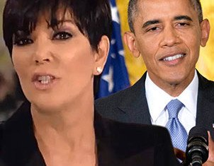 Kris Jenner fired back at Barack Obama after he criticized Kim Kardashian and Kanye West for their opulent lifestyles