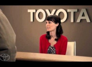 Laurel Coppock is playing Jan in Toyota commercials
