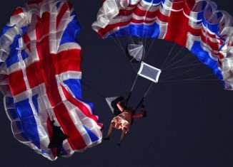 Mark Sutton, the stuntman who parachuted into the London 2012 opening ceremony as James Bond, has been killed in an accident