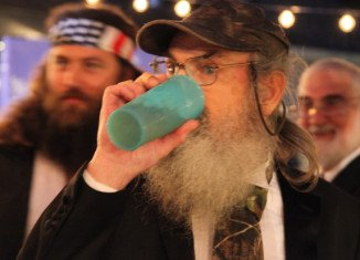 Si Robertson's blue cup was given to him by his mother while he was in Vietnam