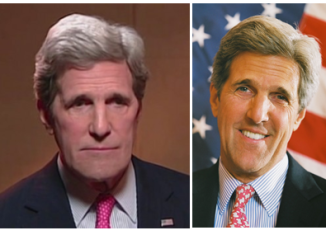 John Kerry's eyes seemed less droopy than usual and his entire face seemed somehow wider