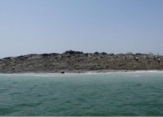Pakistani people of coastal town of Gwadar saw a new island emerging in the sea after the earthquake