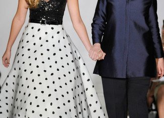 Sadie Robertson made her New York Fashion Week debut, walking the runway at the Evening By Sherri Hill Spring 2014 show