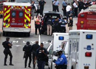 Several people have been shot by a gunman at the Washington Navy Yard