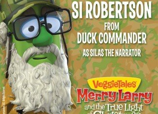 Si Robertson makes cartoon debut as Silas the Narrator in a new Veggie Tales story, Merry Larry and the True Light of Christmas