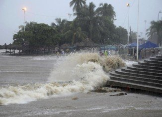 Tropical Storm Manuel, which has battered the south-west of Mexico, has gathered strength and is now a category one hurricane