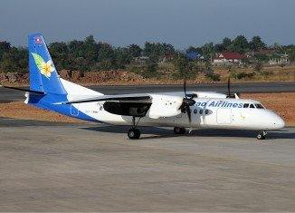 A Lao Airlines aircraft on an internal flight has crashed into the Mekong River in southern Laos,