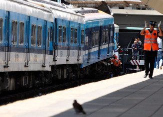 At least 35 people were injured Saturday morning when a train crashed in a Buenos Aires neighborhood