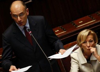 Italian PM Enrico Letta has been addressing parliament ahead of a crucial vote of confidence in his governing coalition