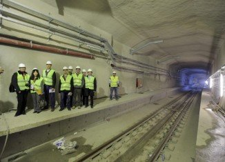 The railway tunnel underneath the Bosphorus Strait creates a new link between the Asian and European shores of Istanbul