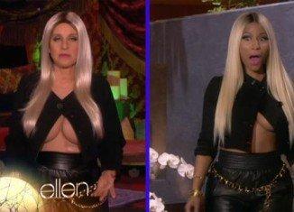 Ellen DeGeneres decided to pay tribute to Nicki Minaj on her Halloween episode of her talk show