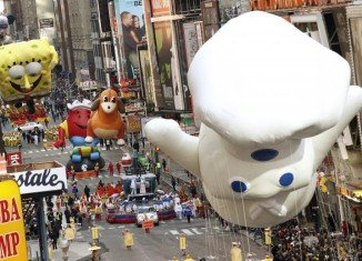 Macy's Thanksgiving Day Parade balloons may not be flown if the weather creates hazardous conditions
