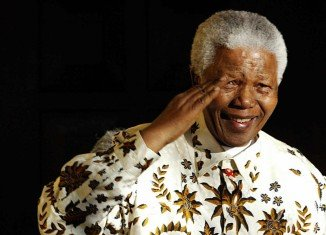 Nelson Mandela is still unable to speak but uses facial expressions to communicate