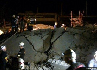 Rescue teams are working in the dark and are using sniffer dogs to look for survivors beneath the rubble at the site in Tongaat