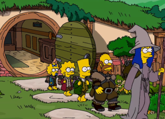 The Simpsons travel to Middle-Earth in search of the Comfy Couch