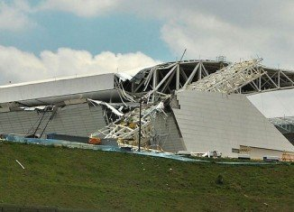 Three people have died in an accident at Sao Paolo's Itaquerao stadium that is due to host the opening ceremony of the 2014 World Cup football