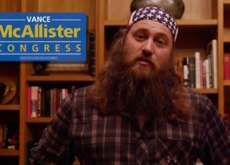 Willie Robertson has endorsed political outsider and Republican businessman Vance McAllister, who will be battling it out December 9 in a special run-off election for a vacant seat in Louisiana's 5th Congressional district