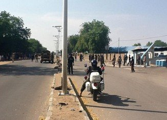 Boko Haram militants have attacked a military airbase in Maiduguri destroying two helicopters