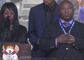 Nelson Mandela's memorial deaf interpreter used fake sign language