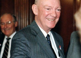 John Eisenhower was the second son of Dwight D. Eisenhower and Mamie Doud Eisenhower