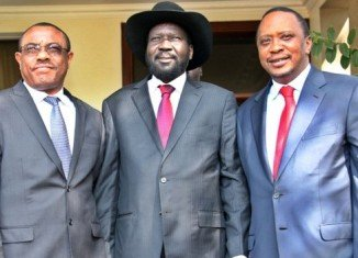 Kenya talks come a day after South Sudan's President Salva Kiir Mayardit met the Kenyan president and Ethiopian PM in Juba