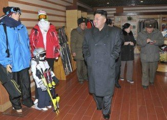 Kim Jong-un touring the Masik-Ryong ski resort