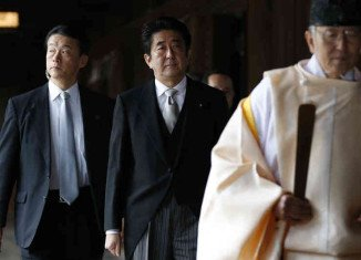 PM Shinzo Abe visited Yasukuni shrine that honors Japan's war dead, including some convicted war criminals