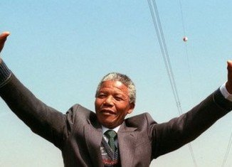 People across South Africa commemorated Nelson Mandela with song, tears and prayers