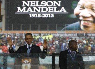 "President Barack Obama said Nelson Mandela was a ""giant of history"""
