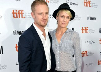 Robin Wright got engaged to Ben Foster after almost two years of dating