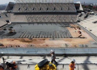Sao Paulo stadium where the opening match of the 2014 World Cup is due to be played in Brazil will not be ready until April