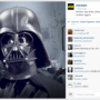 Star Wars Instagram account launched with Darth Vader selfie