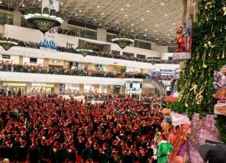 The Guinness World Record for the largest gathering of Santa's elves was achieved on December 8, 2013, in Iasi City, Romania