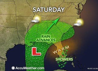 The storm will hit the South during Saturday night and much of the mid-Atlantic and southern New England on Sunday