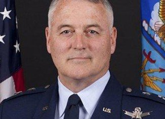 """US Air Force Major-General Michael Carey was sacked for conduct """"unbecoming of a gentleman"""" during a business trip to Russia"""