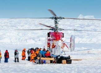 Akademik Shokalskiy first group of passengers to be airlifted out