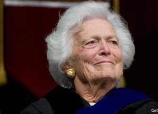 Barbara Bush spent nearly a week in a Houston hospital being treated for pneumonia