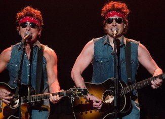 Bruce Springsteen joined show host Jimmy Fallon for a duet sending up a scandal embroiling Governor Chris Christie