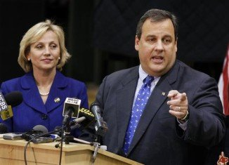 Chris Christie's deputy, Lieutenant Governor Kim Guadagno, has denied claims that they threatened to withhold disaster funds from Hoboken