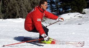 Michael Schumacher injured himself in a skiing accident in the French Alps