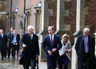 Prince William arrived at the University of Cambridge by public transport