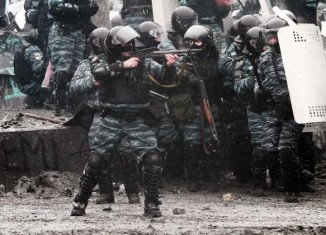 Elite Berkut police unit is blamed for the deaths of protesters in Ukraine