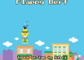 Flappy Bert parodies Flappy Bird, with players having to guide the Sesame Street character through various pipes