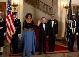 Francois Hollande has been honored at a lavish White House state dinner